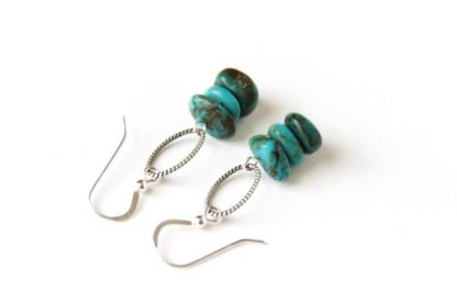Kingman Turquoise handmade earrings Western Cowgirl Style